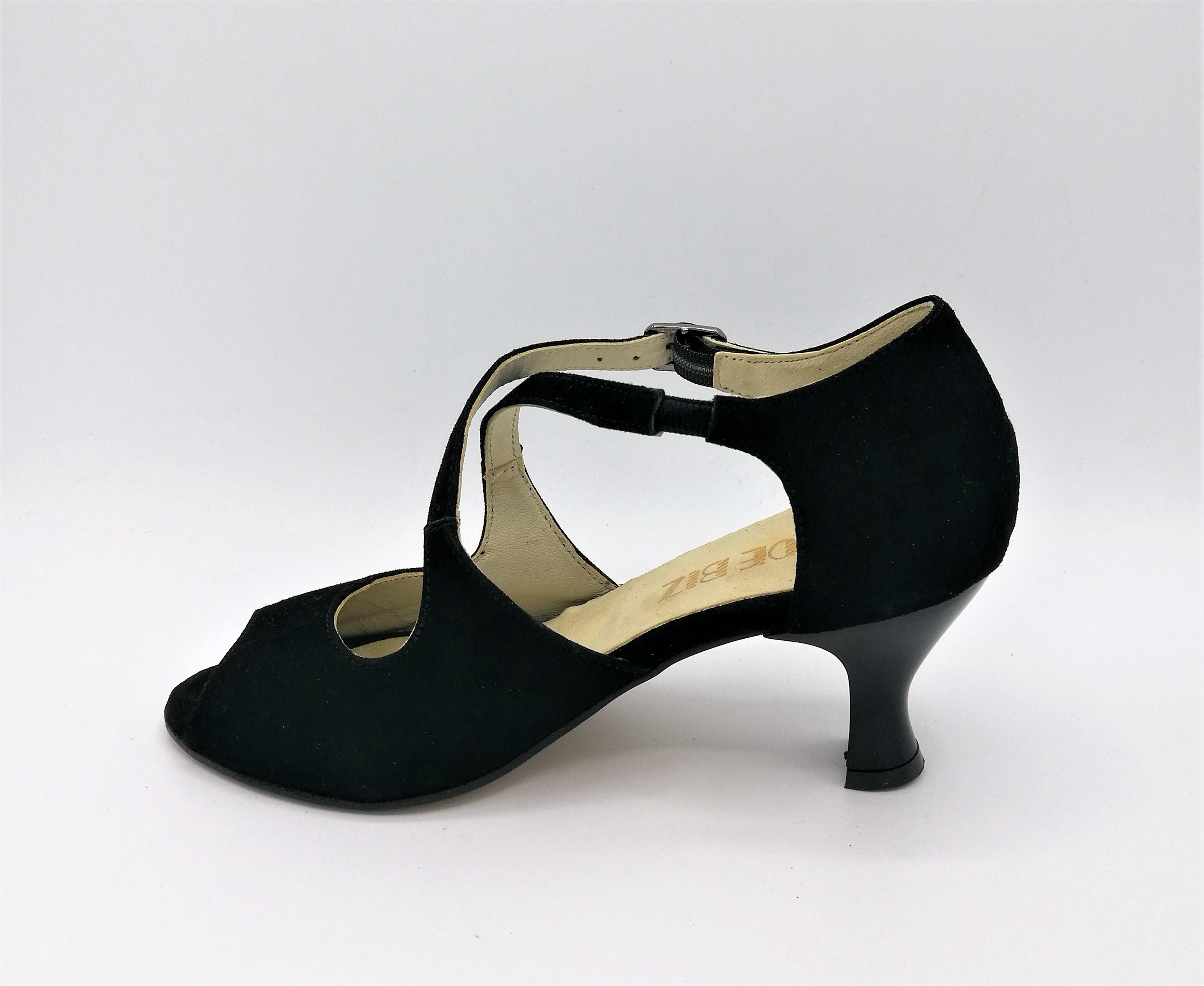 Schuhebiz S2040 scarpe scarpe scarpe da ballo camoscio vernice nero 20f9cd