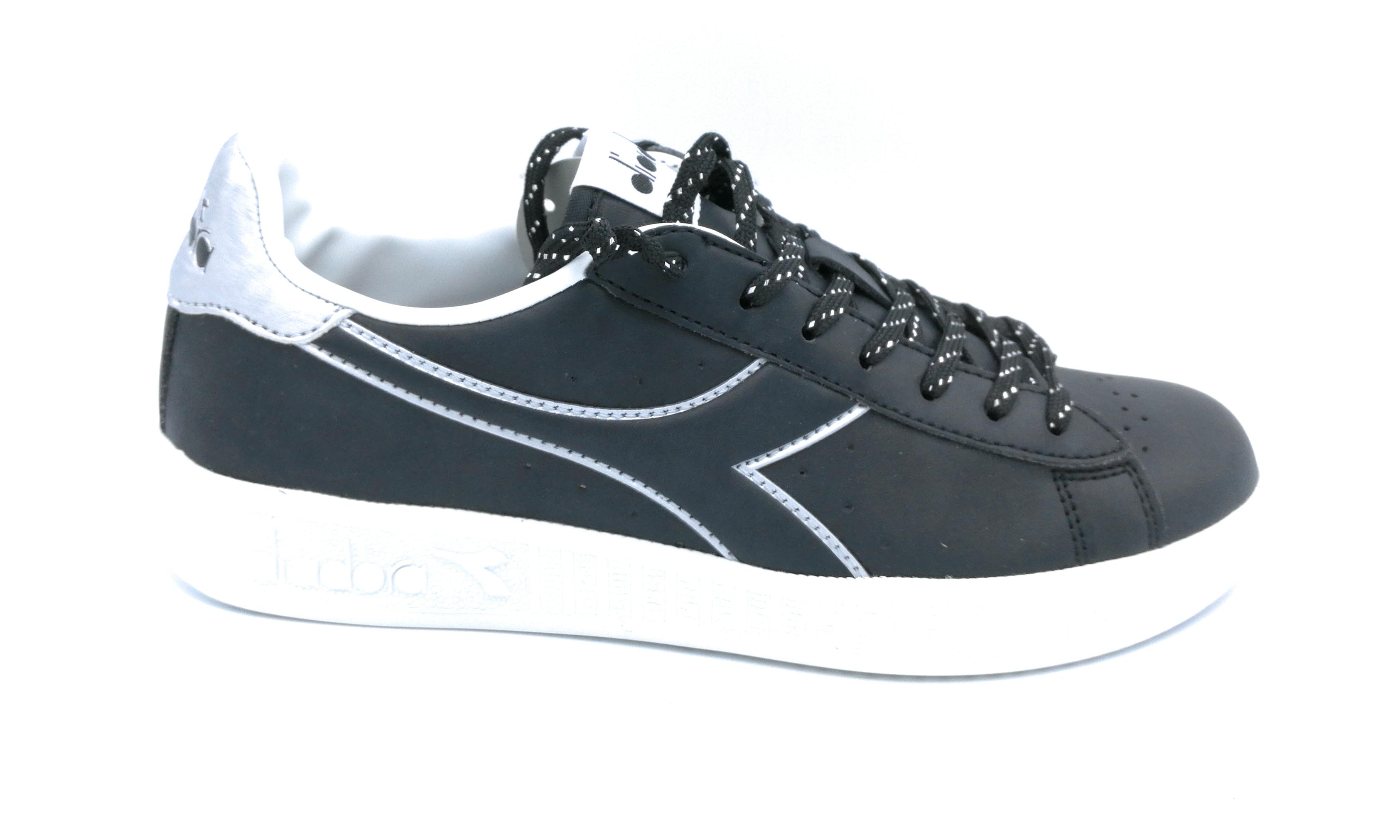 Pwn Pwn Argento Nero Oro Lacci Nero Argento Auq0twx50 Bianca Sneaker Game Diadora 5b387b