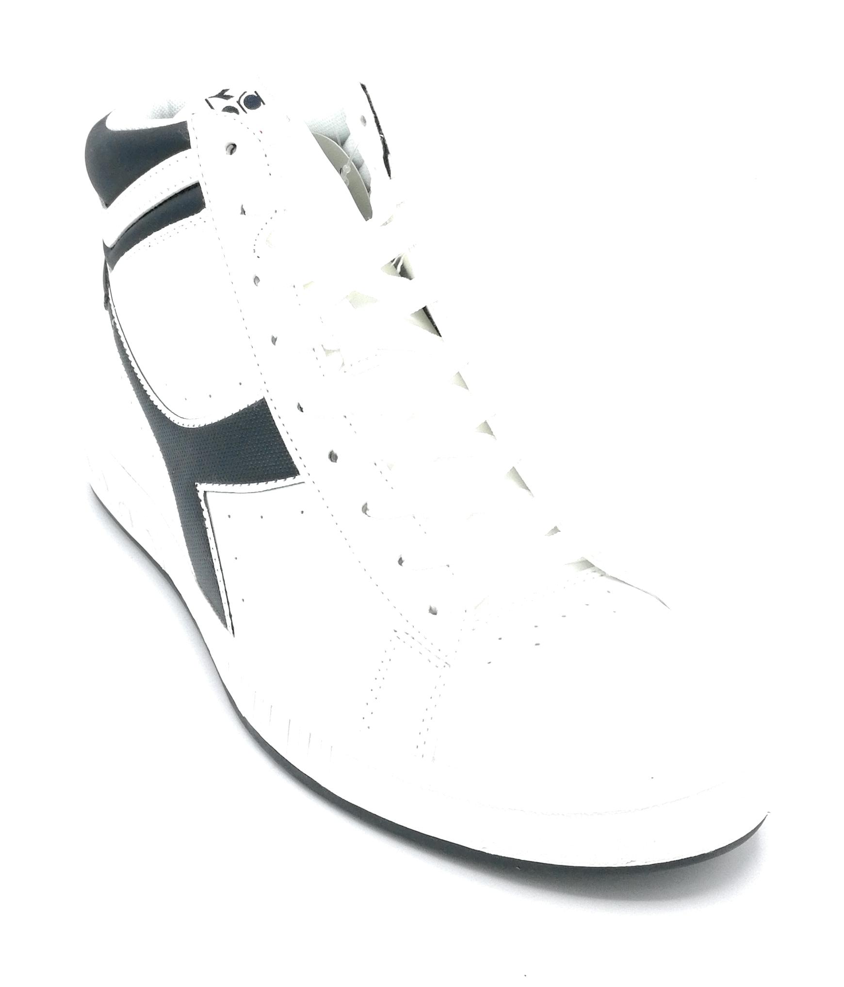Sneaker High Diadora Lacci Alta Blu P Bianco Game Pelle dCWBexro