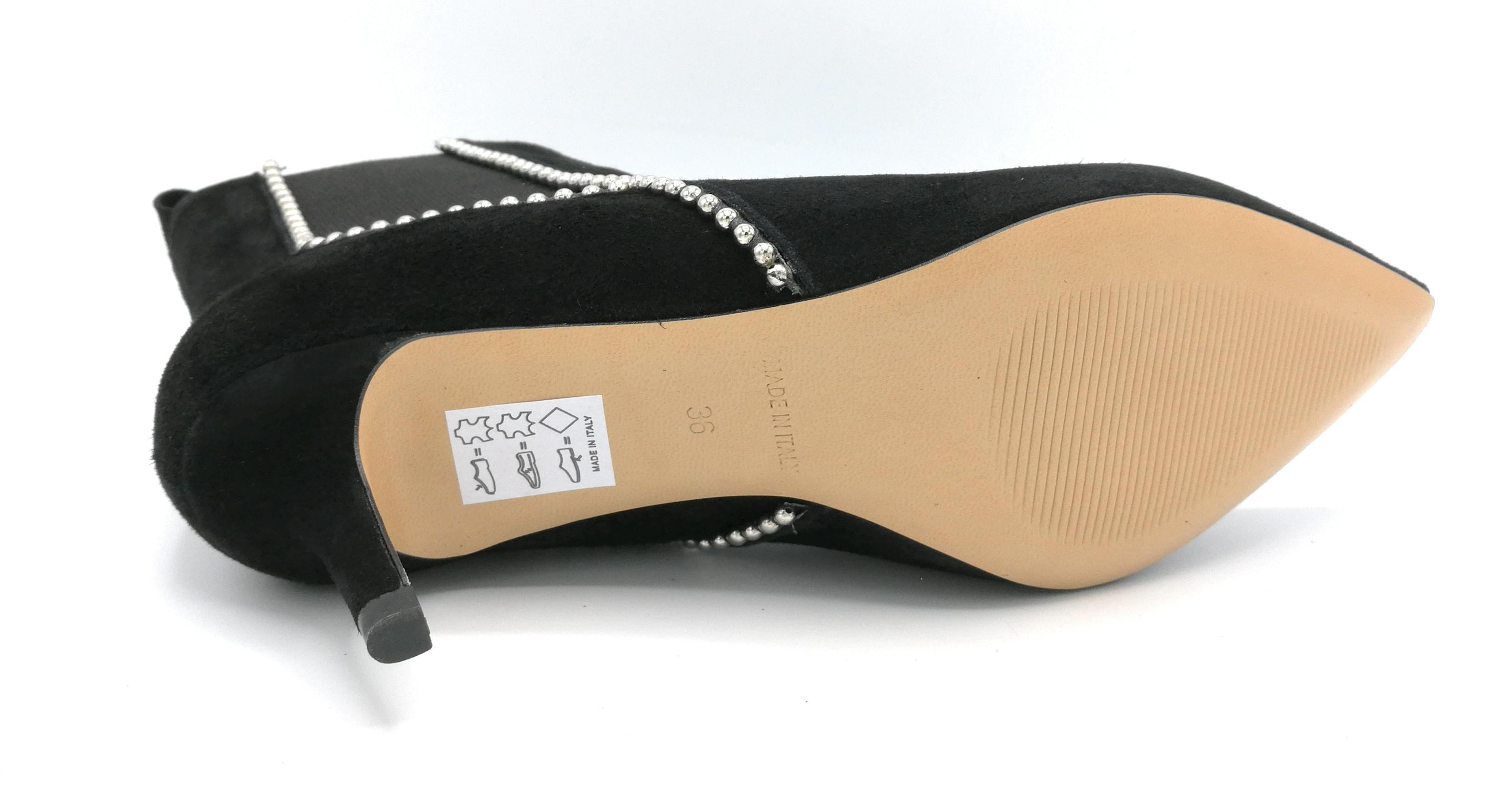 Noa TM schwarz 506 Stiefelette Gämse schwarz TM elastisch Perlen Stahl Absatz 5 cm f2c58a