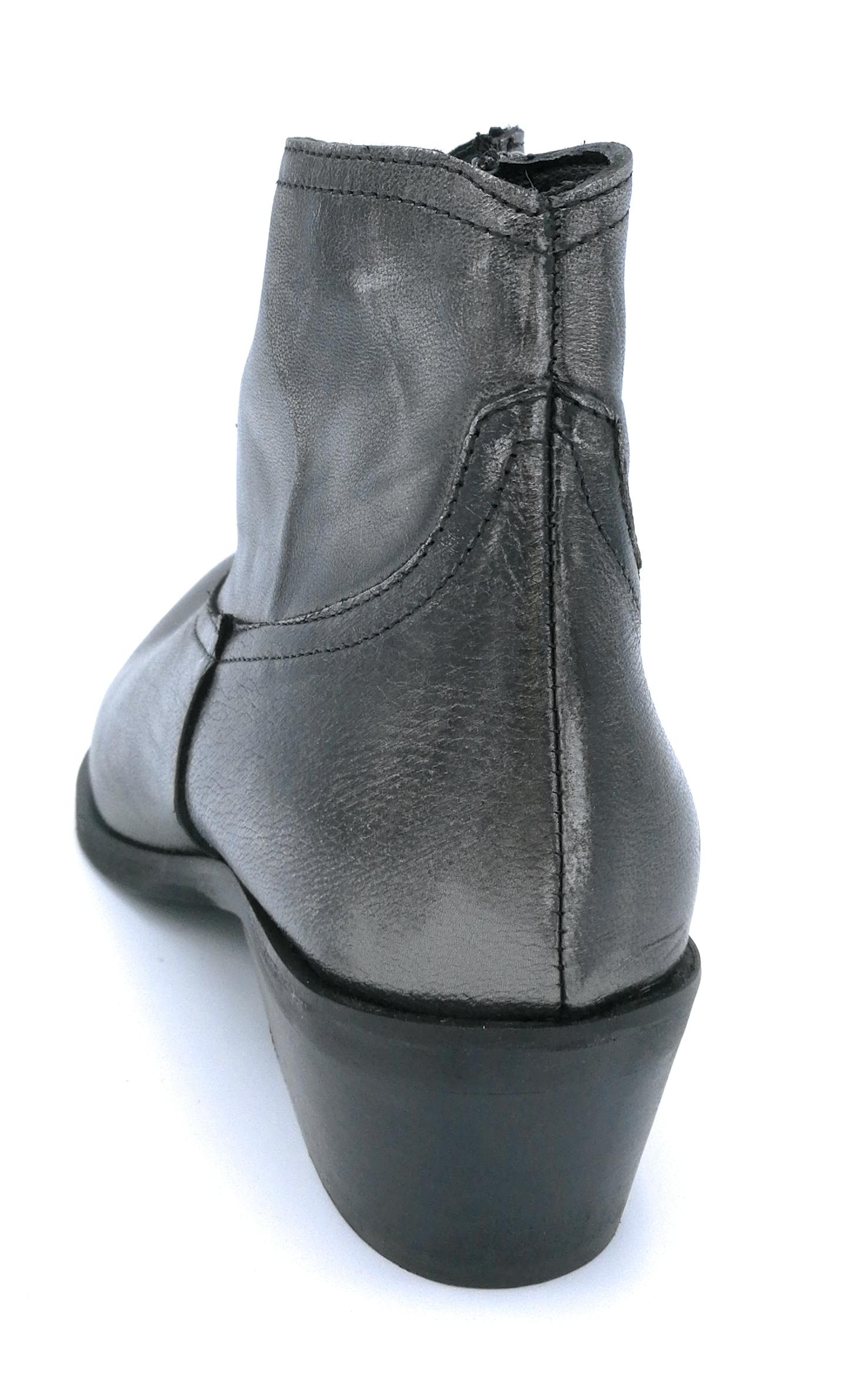 Mary 4313 pelle stivaletto texano pelle 4313 nero/piombo con cerniera dd47c3