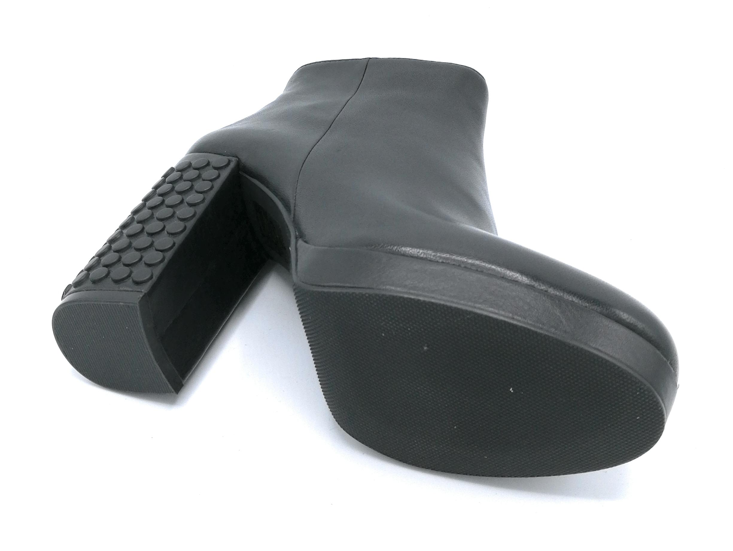 Adele Dezotti S4000 stivaletto plateau nappa nero cerniera tacco 10cm 10cm tacco 5a49f4
