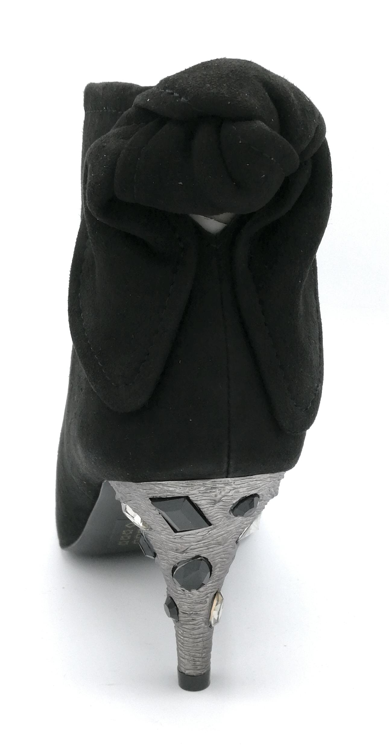 Bruno Premi U0603 stivaletto camoscio nero cerniera cerniera cerniera tacco metal cristalli 6cm 019f83