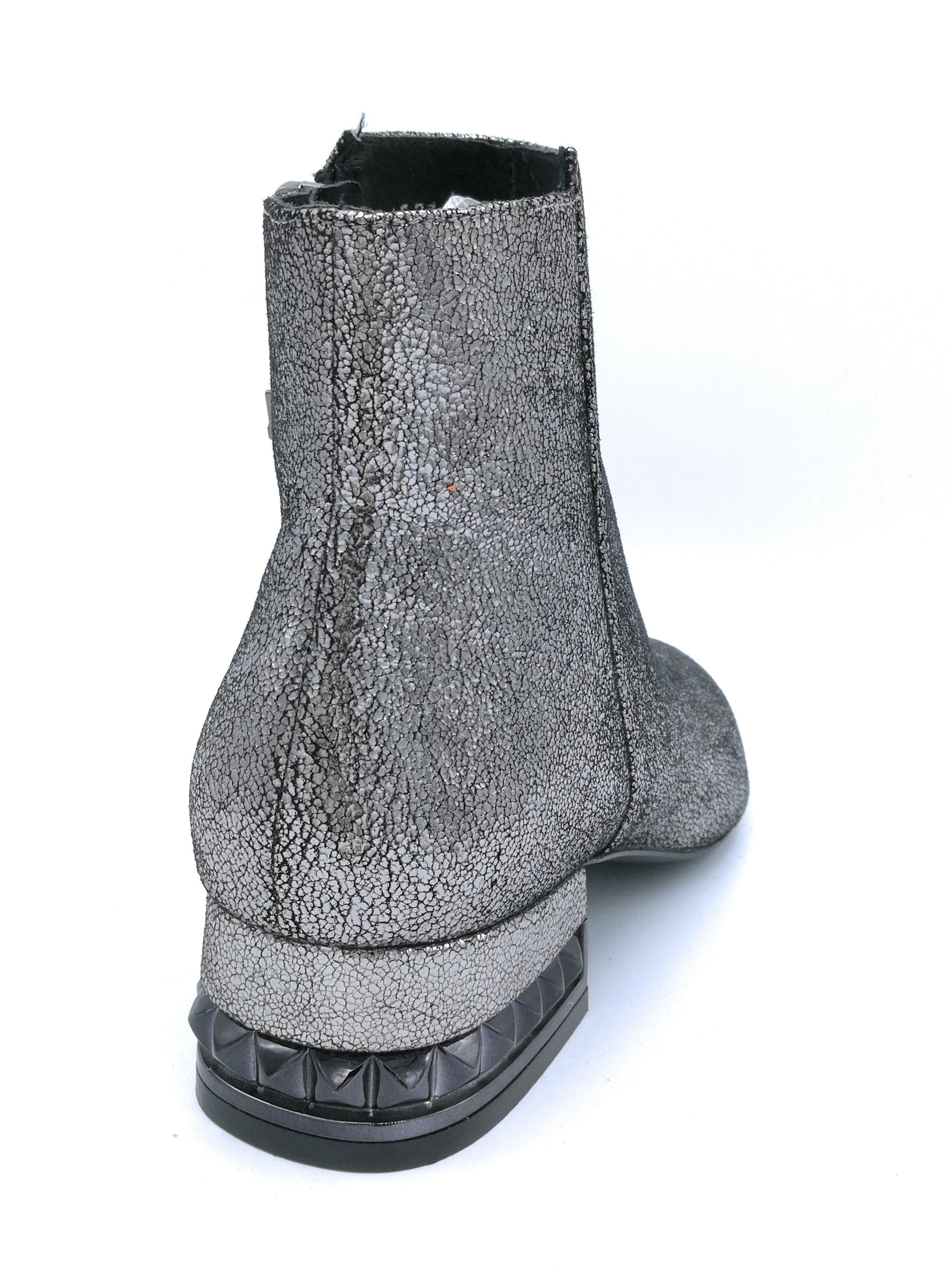 Bruno Premi U2100X stivaletto  laminato antracite cerniera 3cm tacco 3cm cerniera accessori 0d1a5c
