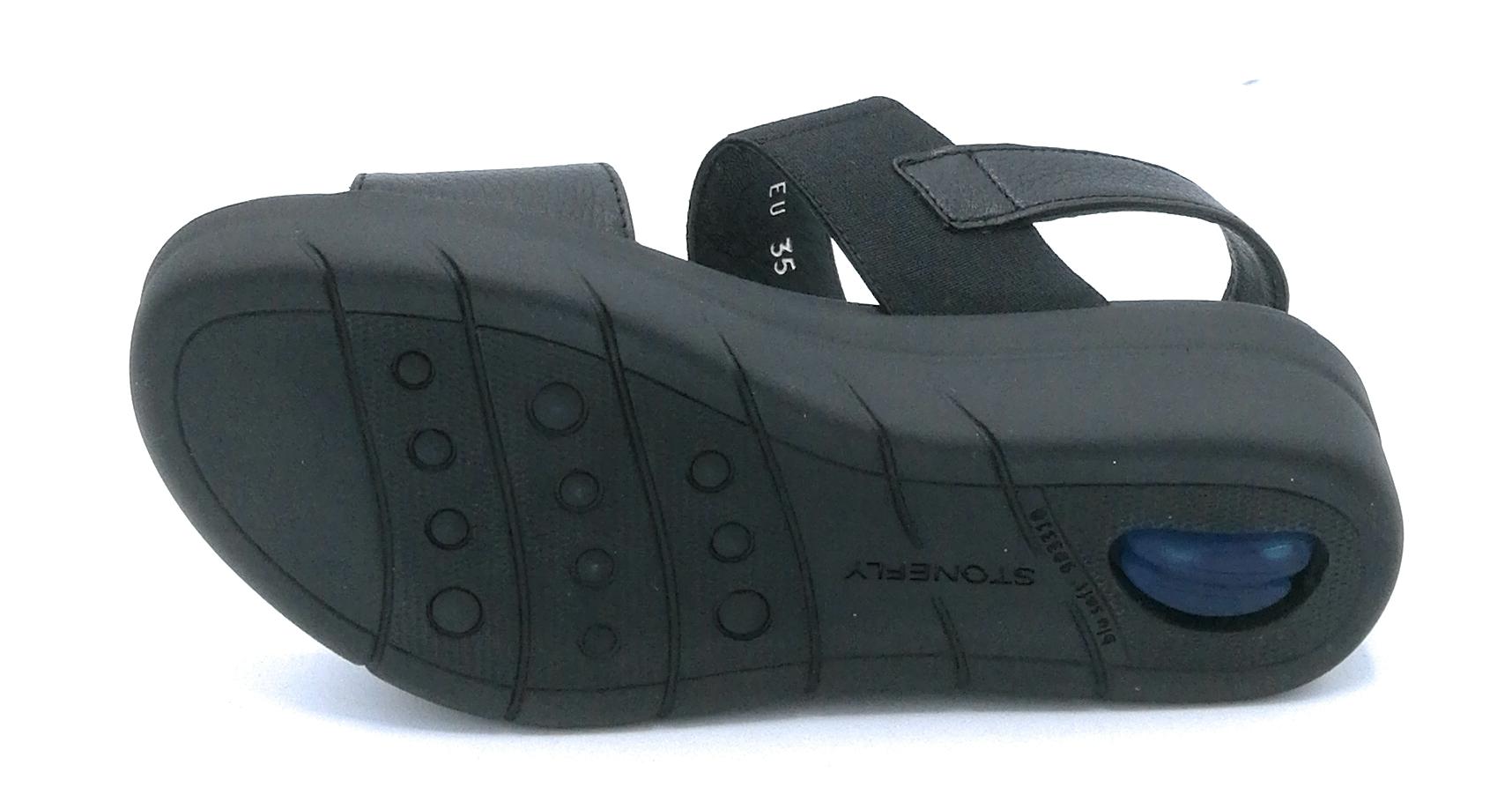 Cinturino Stonefly Pelle 210854 Nero Dshqrct Elastico Rosso Sandalo SpqzMUV