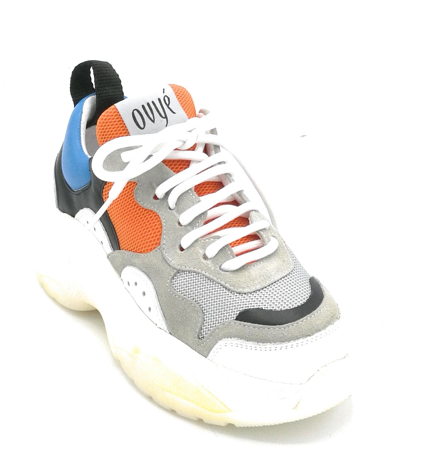 Camoscio Tessuto Ovye Pelle Lacci Rg03v8 Multicolor Sneaker hQrstCd