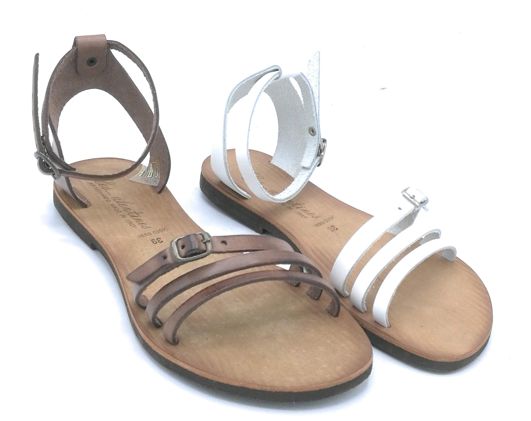 Micro Cinturini Les Sandalo Cuoio Bianco Alentines 2 Basso Nw8n0PXkO