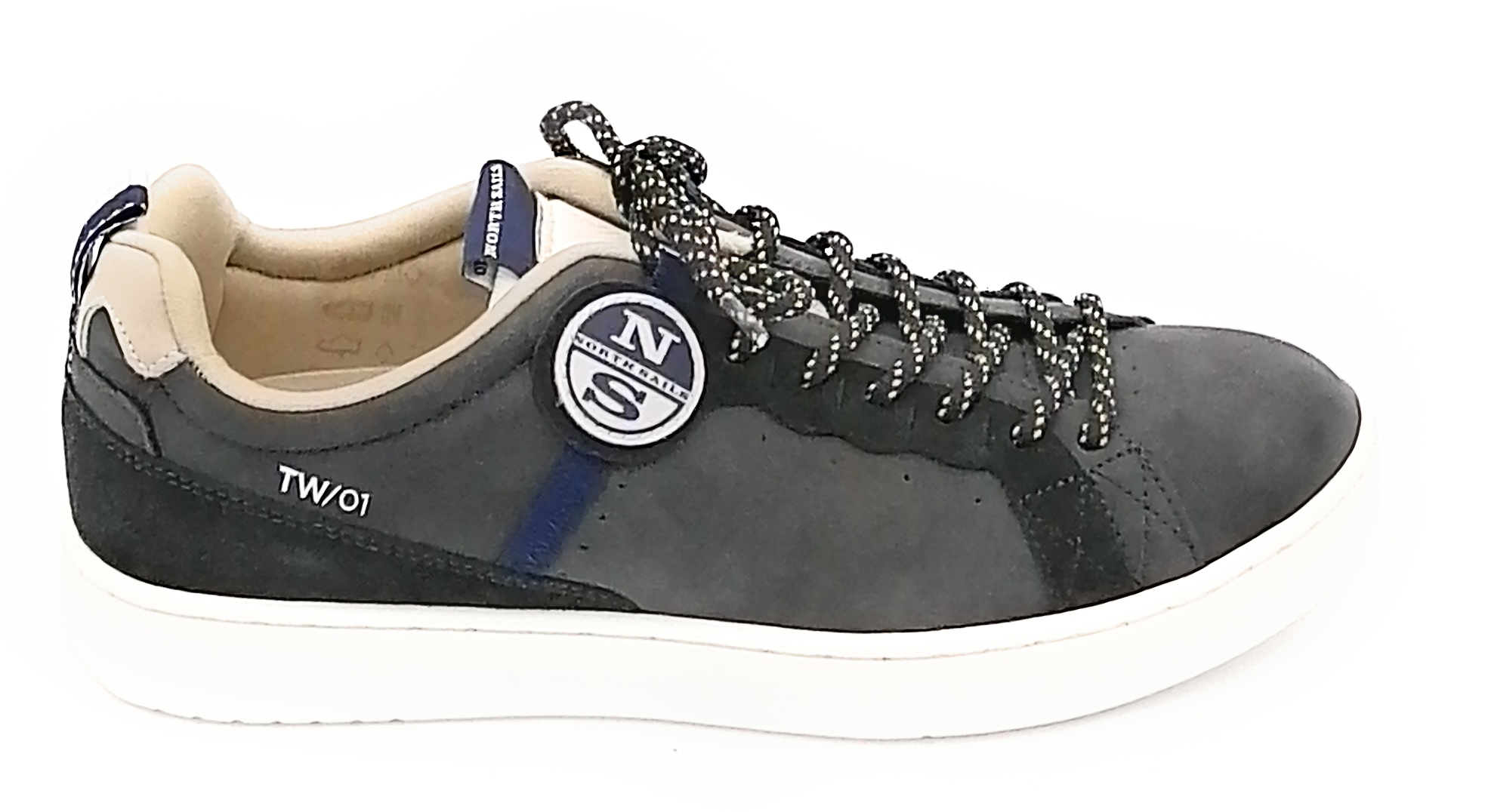 North Sails TW-01 sneaker nabuk nero 0-1