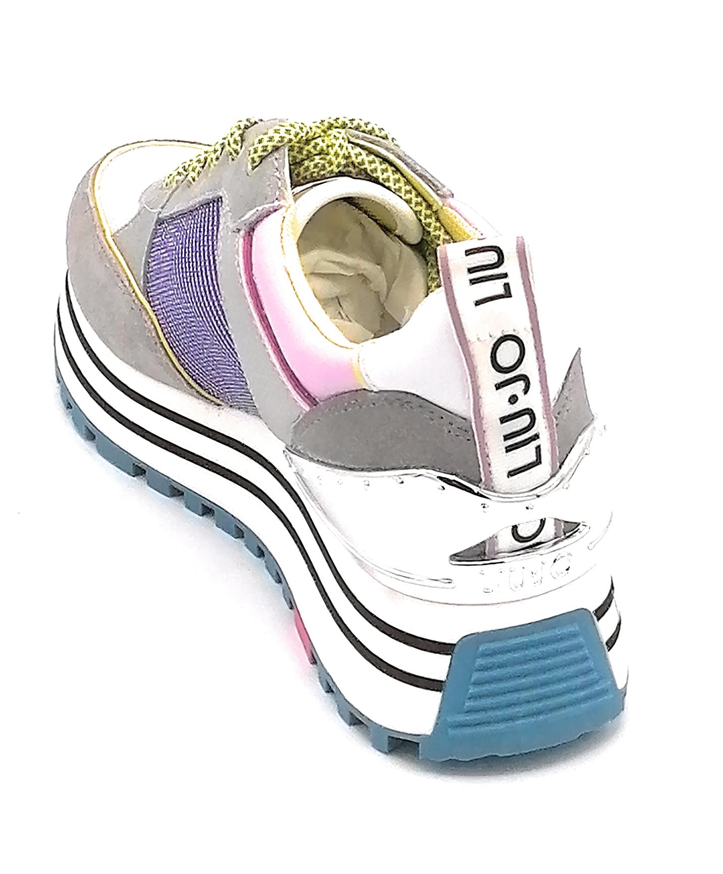 Liu Jo wonder maxi 20 sneaker multicolor pelle-camoscio-tessuto accessorio LJ