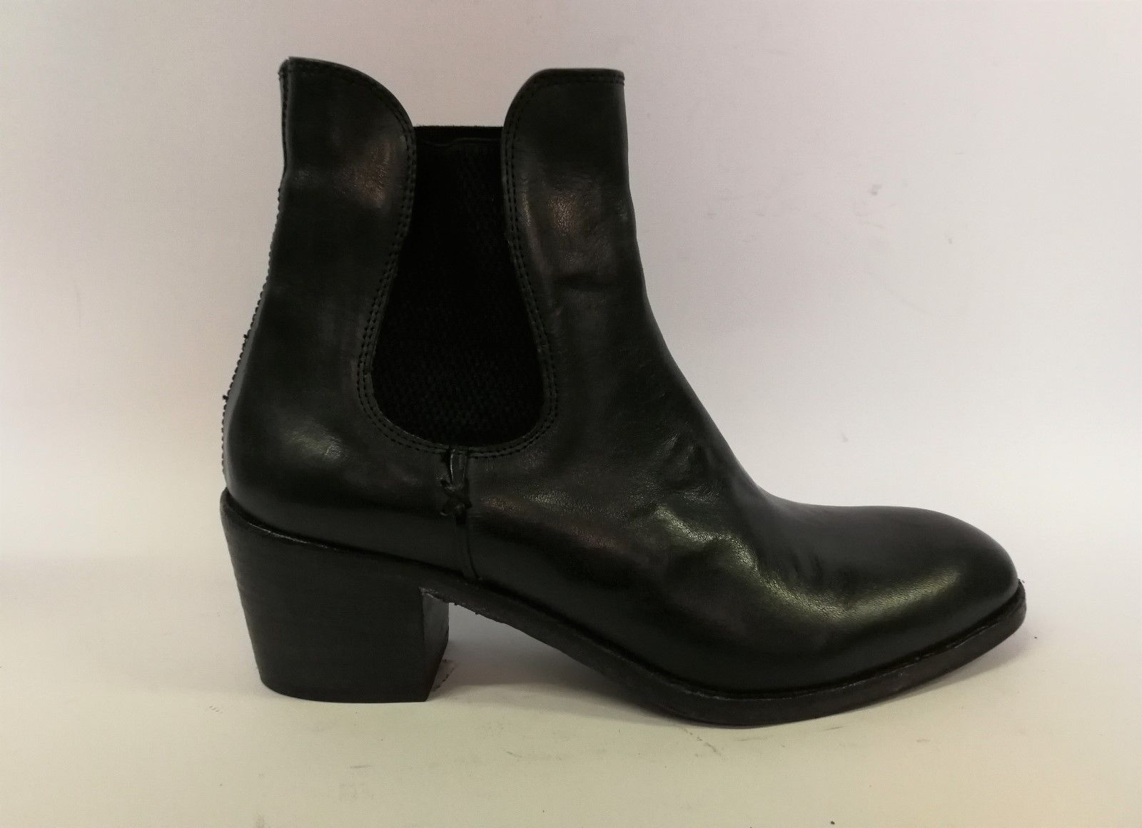Cavallini 5257 stivaletto elastico in pelle  con elastico stivaletto nero / verd 3a33cf