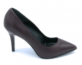 Mary 8080 decollete nappa bordeaux tacco 8 cm