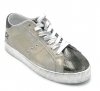 In My Shoes In28 sneaker lacci laminato platino