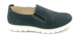 Igi e Co 5115300 mocassino nabuk morbido blu W